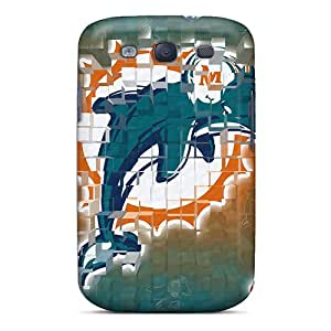 Anti-Scratch Hard Phone Case For Samsung Galaxy S3 With Unique Design Beautiful Miami Dolphins Skin LauraAdamicska