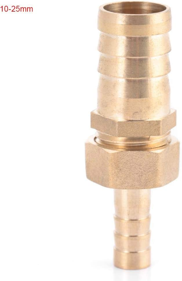 Hilitand Acople de lat/ón 10mm-16//19 25mm Acople de lat/ón Conector de reducci/ón de Cola de Espiga Reductor de Conector 10-16mm