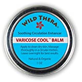 Wild Thera Herbal Varicose Vein Treatment. Vein Cream for Spider Veins, Edema, Nerve Pain, Leg Pain. Arnica & Horse Chestnut Co-Therapy for Compression Socks, Compression Shorts & Diabetic Socks.
