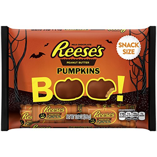 REESE'S Halloween Snack Size Peanut Butter Pumpkins, 10.2 - Themed Halloween Snacks
