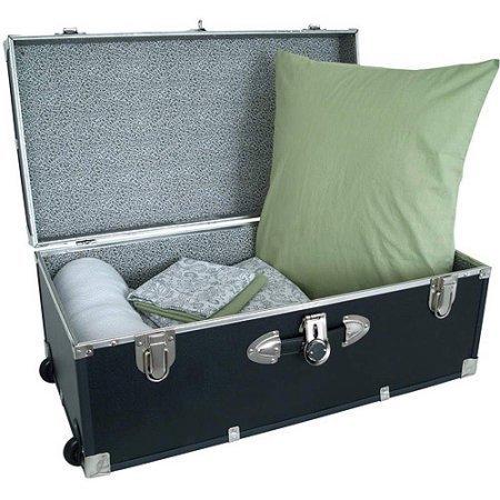 Mercury Luggage Seward Trunk Wheeled Storage Footlocker, 30'' /Model: 6113-18 /color: Black