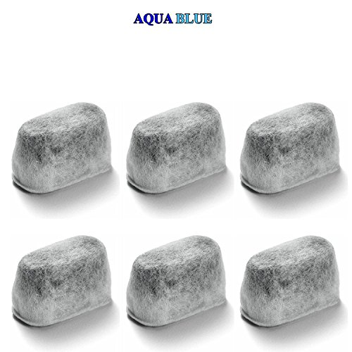 6 pack - KitchenAid KCM11WF Water Filter Replacement by AQUA BLUE