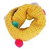 Damara Cute Pompon Children Baby Warm Winter Knitted Neckerchief Scarves