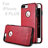 iPhone 8 Plus Case ejZo Slim Fit Premium Leather iPhone 8 Plus – Best Luxury Ultra Thin Phone Cases Shockproof Protective Defender Shell for Apple iPhone 8 Plus (Red) Review