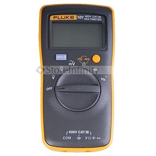 Fluke 101 Basic Digital Multimeter Pocket Portable Meter Equipment Industrial (Multimeters Digital)