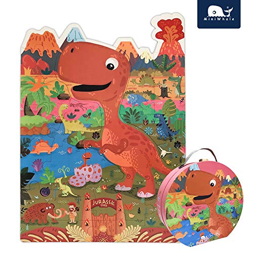 Dinosaur Floor Puzzle for Kids Grown Up Puzzles for Children Age 3+ (24Pcs,2.3x1.6 Feet)