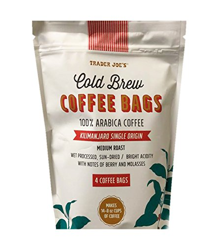 Trader Joe's Cold Brew 100% Arabica Medium Roast Coffee Bags (4 Coffee Bags)