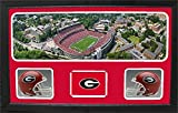Encore Select 657-05 NCAA Georgia Bulldogs Custom Framed Sports Memorabilia with Two Mini Helmets Photograph and Name Plate