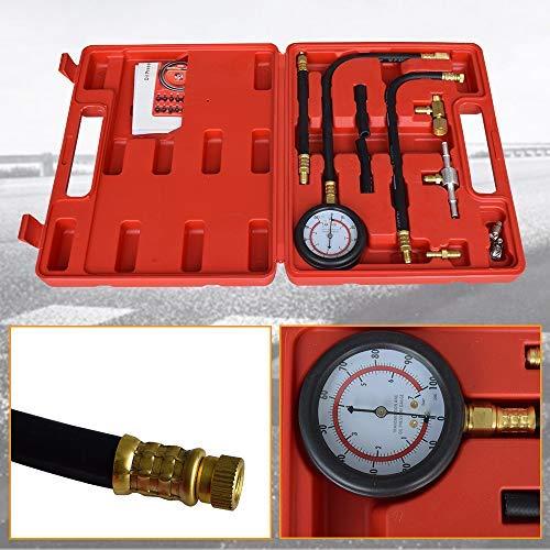 0-100PSI DakRide Fuel Pressure Gauge Injection Pump Gas Gasoline Tester Kit Car Tools for Cars /& Trucks