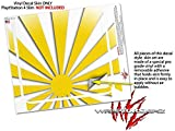 Rising Sun Japanese Flag Yellow - Decal Style Skin fits Sony PlayStation 4 Slim Gaming Console