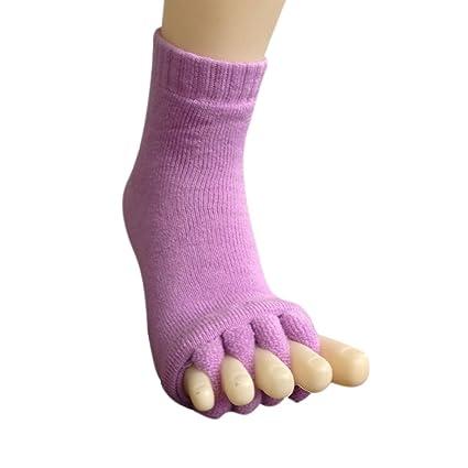 Espeedy Masajes Yoga Calcetines Dedos,Hombres Mujeres durmiendo Salud Cuidado de pies Masaje Toe Calcetines