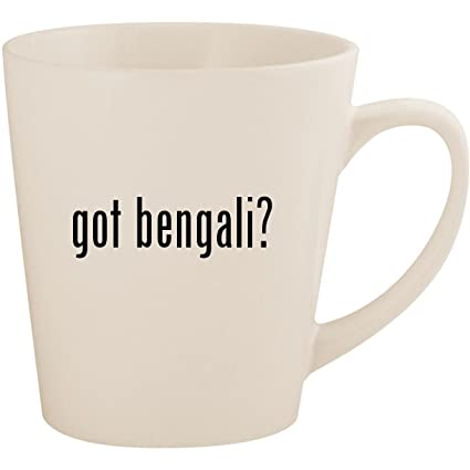 Amazon com: got bengali? - White 12oz Ceramic Latte Mug Cup: Kitchen