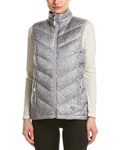 Mountain Hardwear Ratio Printed Down Vest - Women's Steam Small (Mountain Womens Hardwear Vest)