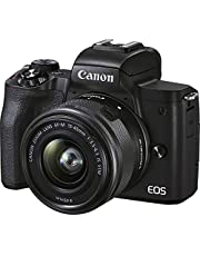 Canon 4728C009 EOS M50 Mark II with EF-M15-45mm, Black