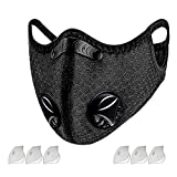 Dust Mask Sports Face Cover Mask with 6