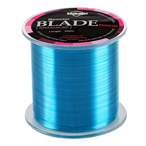 SeaKnight Monster Blade Monofilament Fishing Line 500m/547yds Japan Material Nylon Fishing Line Blue 25LB/11.33KG/0.4mm/500 Meters ()