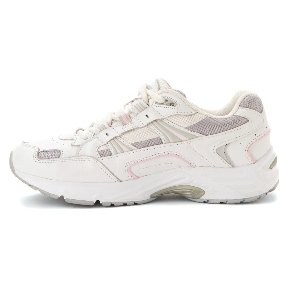 Vionic Women's with Orthaheel Technology Women's Walker White/Pink Leather 10 Medium B004H4KR94 11 C/D US|White/Pink