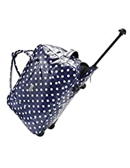Cabin Max Sorrento 55x40x25cm Carry on Weekend Bag Multifunctional Trolley or Holdall (Polka Dot)