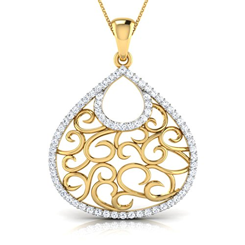 Or blanc 14K 0.39carat au total Round-cut-diamond (IJ | SI) Pendentif