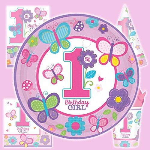 8 Mädchen Geburtstagsteller Sweet Birthday 23 cm Partygeschirr Speiseteller Geburtstag Partyteller Essteller Kindergeburtstag Pappteller Pizzateller Tischdeko Grillteller Partyteller Einwegteller