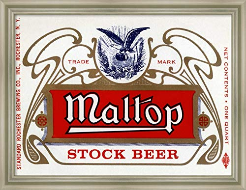 Maltop Stock Beer - Framed Canvas Wall Art Print | Home Wall Decor Canvas Art | Maltop Stock Beer by Vintage Booze Labels | Modern Decor | Stretched Canvas Prints