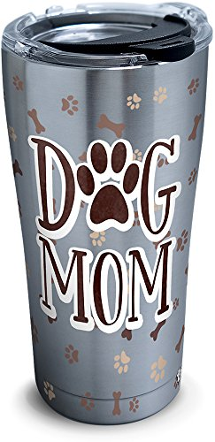 (Tervis 1301808 Dog Mom Insulated Tumbler, 20 oz Stainless Steel, Silver)
