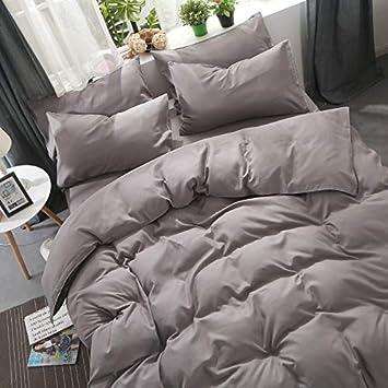 Which Umbrella Three Baumwolle Bettwäsche Weiß Braun Grau Gray