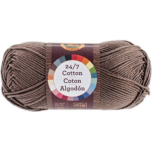 Lion Brand Yarn 761-126 24-7 Cotton Yarn, Cafe Au Lait