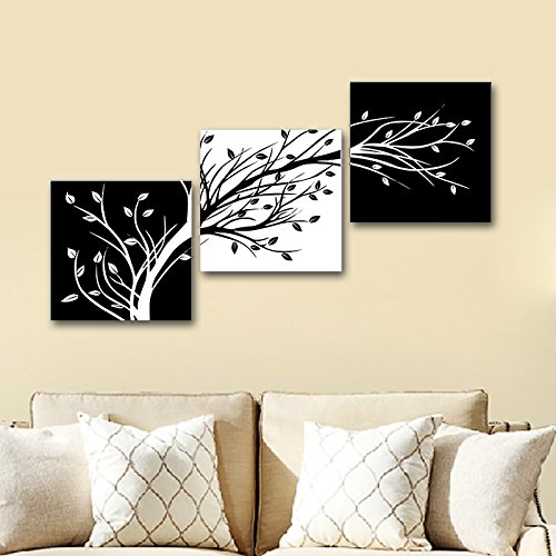 wieco art 3 piece canvas prints wall art for living room kitchen wall decor large modern. Black Bedroom Furniture Sets. Home Design Ideas