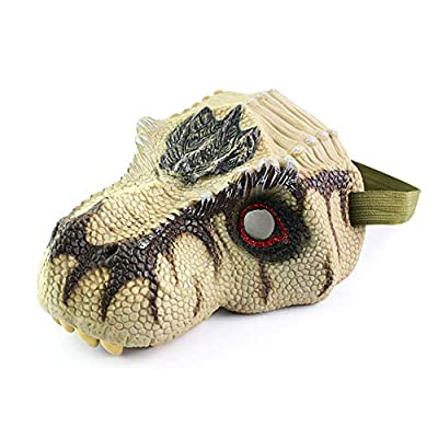 Anniston Kids Toys, Scary Rex Triceratops Dinosaur Latex Face Mask Halloween Cosplay Party Supples Novelty & Gag Toys Perfect Fun Time Play Activity Gift for Boys Girls, Tyrannosaurus Rex: Toys & Games