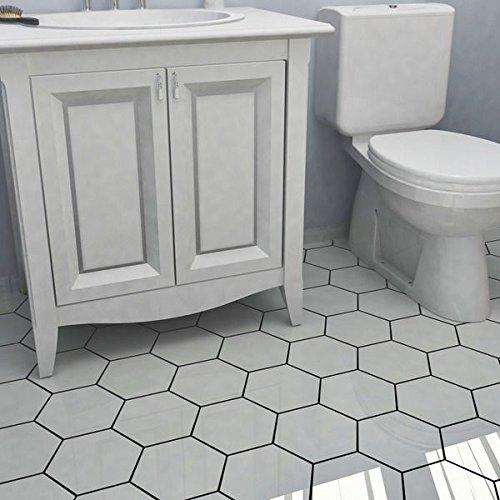 SomerTile Hextile Matte White Porcelain Floor and Wall Tile (Set of 14) by SOMERTILE