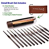 Miniature Paint Brushes Detail Set -12pc Minute