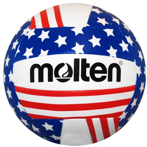 Molten Stars and Stripes Recreational Volleyball, Red/White/Blue ()