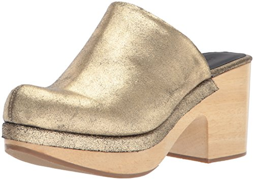 Image of Rachel Comey Women's Bose Mule, Gold Distressed Leather, 7.5 M US