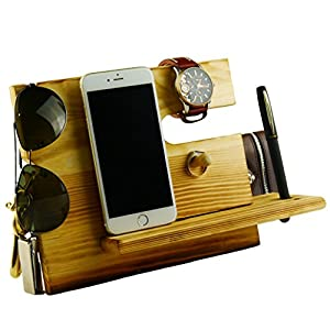 Amazon.com: Lemo hand -Wooden Phone Docking Station with ...