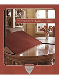 Table Pad For Rectangular Dining With Square Corners Cinnamon