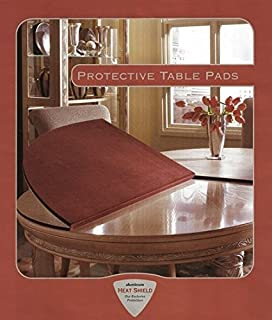 Table Pad For Rectangular Dining Table (Rectangular With Square Corners,  Flax)