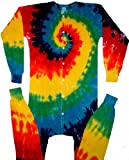 Classic Rainbow Spiral Tie Dye Union Suit Underwear-2X-Tall-Multicolor