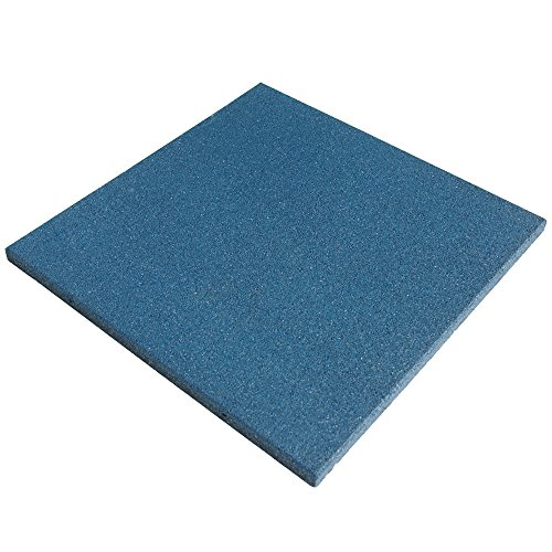 Modular Playground Equipment - Rubber-Cal Eco-Sport Floor Tile-Pack of 3, Light Blue, 1 x 20 x 20-Inch