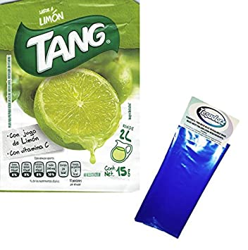 Tang Limon Flavor Powdered Drink Mix (Pack of 24) with Tesadorz Resealable Bags