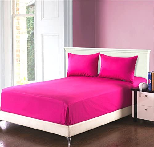 """DOUBLE BED 100/% COTTON FLANNELETTE 14/"""" EXTRA DEEP FITTED SHEET LIGHT PALE PINK"""