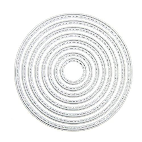 - ZbFwmx Circle Cutting Dies Stencil DIY Scrapbook Album Paper Card Embossing Tool (Circle)