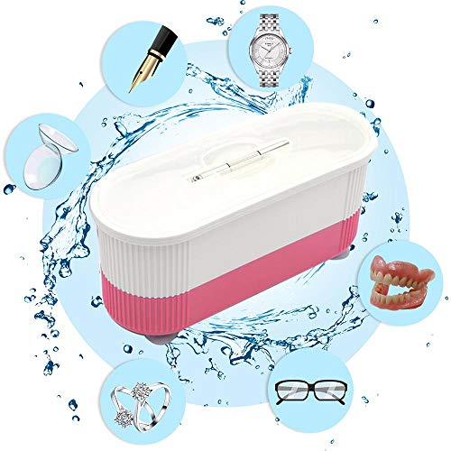 Aolvo Ultrasonic Cleaner,Mini Cleaning Machine for Jewellery Glasses Watch Metal Coins Dentures Business Commercial Home Use