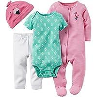 Carter's Baby Girls' 4 Piece Layette Set - Flamingo - 3 Months
