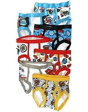 Cars Toddler Boys 7 Pack Underwear Briefs