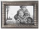 Malden International Designs Modern Pewter Metal Diecast Grandkids Expressions Picture Frame, 4x6, Silver