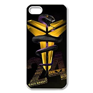 Iphone5/5S hard Case Cover with Los Angeles Lakers Kobe Bryant background