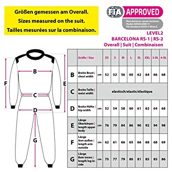 XS Rennoverall Schwarz//gelb Speed Kartoverall Barcelona RS-2 Level 2 CIK FIA Approved Racing Suit