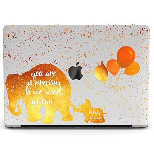 Wonder Wild Mac Retina Cover Case for MacBook Pro 15 inch 12 11 Clear Hard Air 13 Apple 2019 Protective Laptop 2018 2017 2016 2015 Plastic Print Touch Bar Cartoon Girly Cute Elephant Balloon Mother -