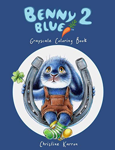 Benny Blue 2 Grayscale Coloring Book